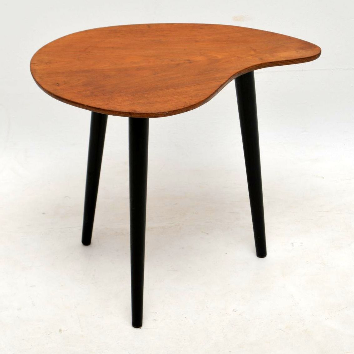 1950 s walnut vintage side table retrospective interiors for Retro side table