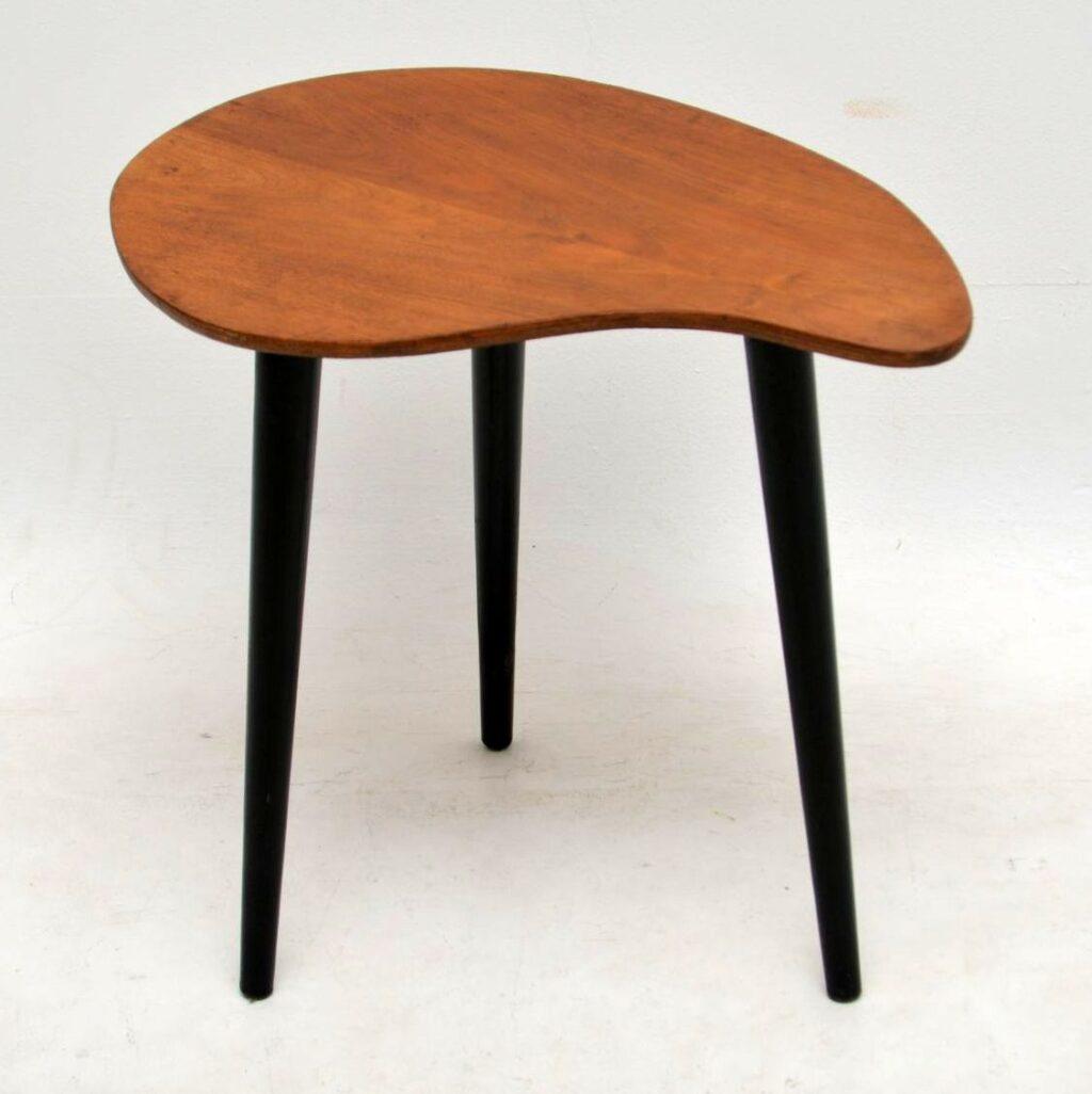 retro walnut side table