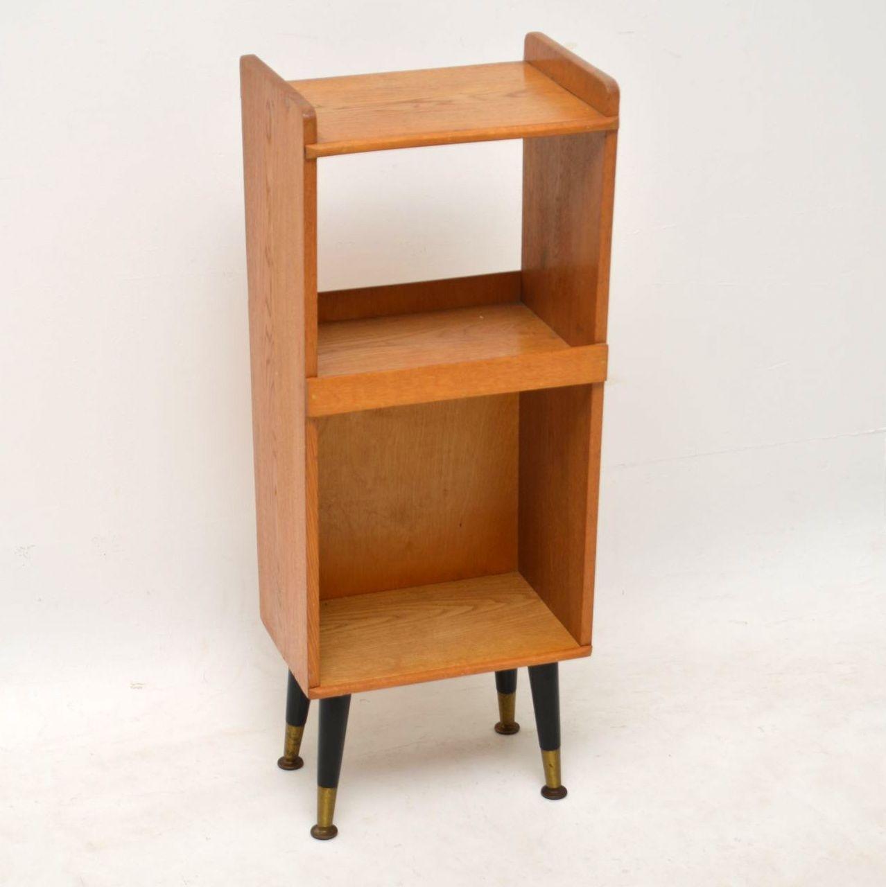 1950 S Vintage Oak Side Table Bedside Cabinet
