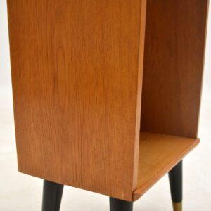 vintage oak bedside cabinet