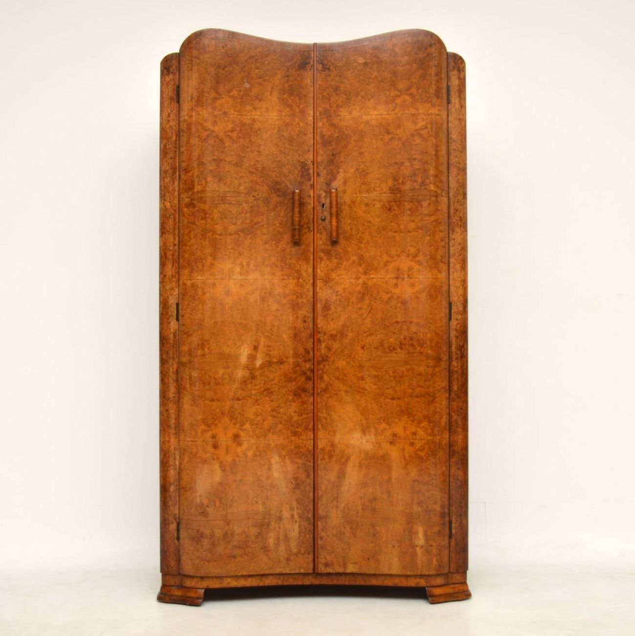 1920 S Vintage Art Deco Walnut Wardrobe Retrospective
