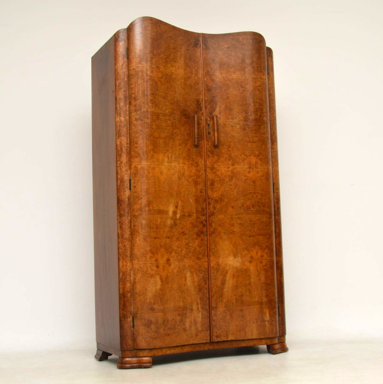 Art deco period furniture Neolithic 1920s Vintage Art Deco Walnut Wardrobe Tronmedia 1920s Vintage Art Deco Walnut Wardrobe Retrospective Interiors