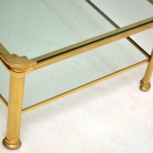 1970's Vintage Italian Brass Coffee Table Signed 'Mara'