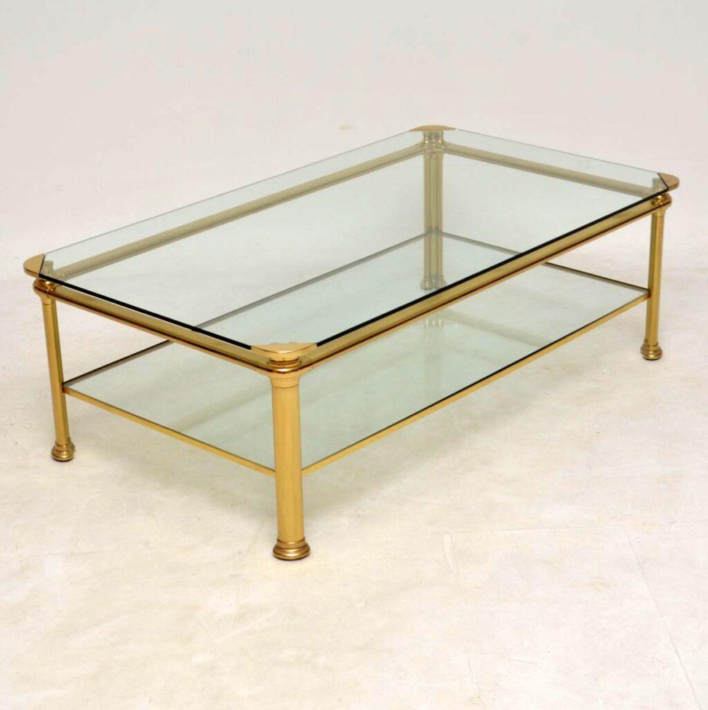 1970's vintage italian brass coffee table