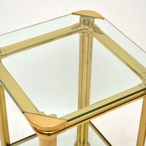 pair of 1970's vintage brass italian side tables