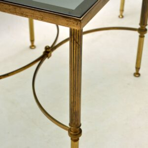 1950's Pair of Vintage Brass Side Tables