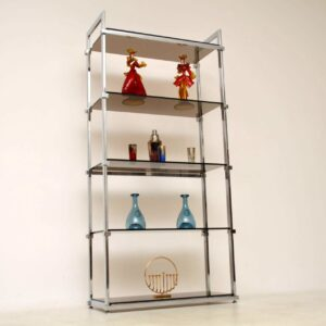 vintage chrome display cabinet by pieff of worcester