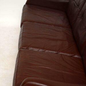1960's Danish Vintage Leather Sofa