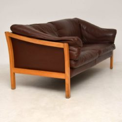 danish vintage leather sofa
