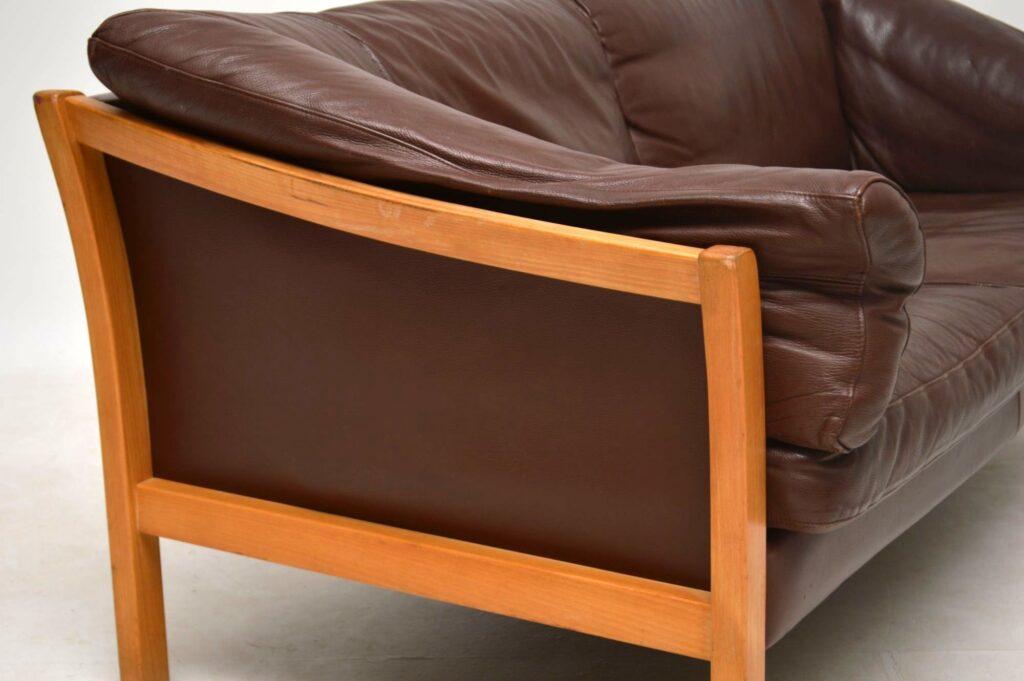 danish vintage leather sofa