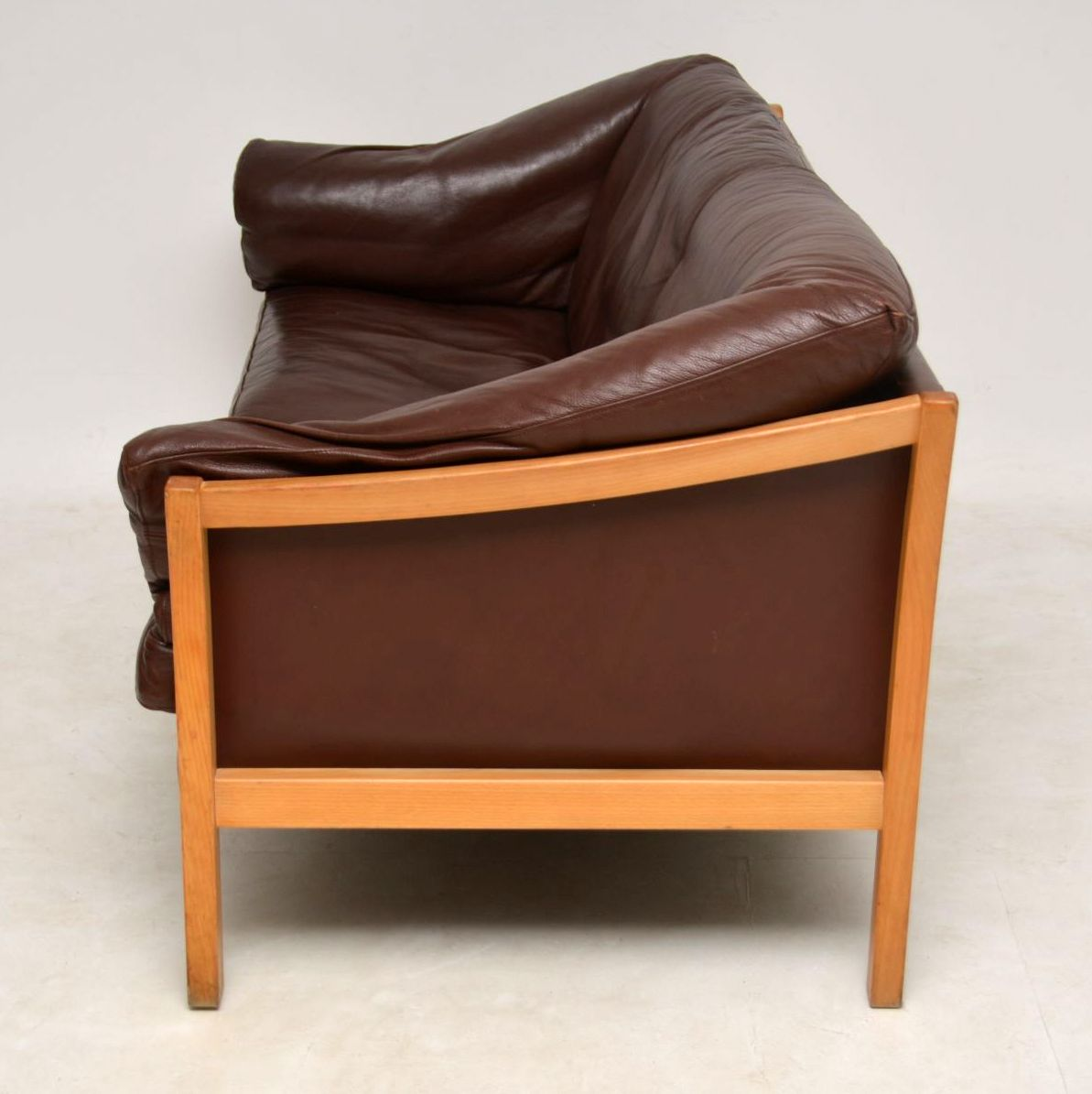 1960 S Danish Vintage Leather Sofa Retrospective Interiors Vintage