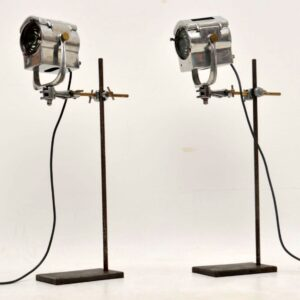 1950's Pair of Vintage Spotlights / Table Lamps
