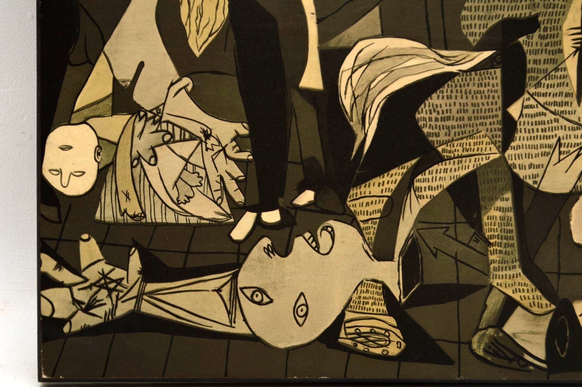 Guernica By Pablo Picasso Large Vintage Print On Board