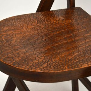 1920's Set of Five Vintage Tortoise Shell Bentwood Folding Chairs