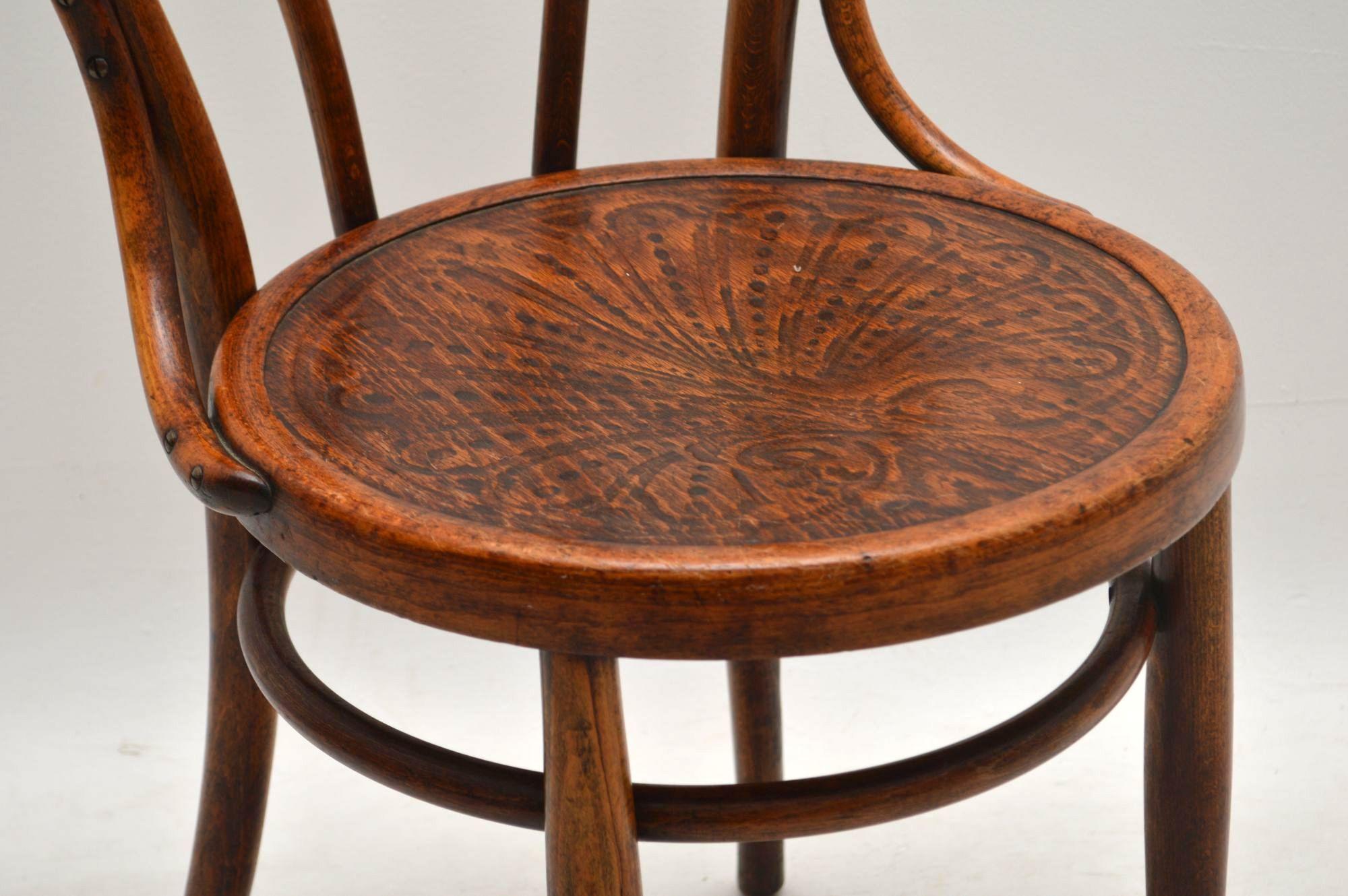 Antique Vintage Bentwood Thonet Cafe Chair Retrospective