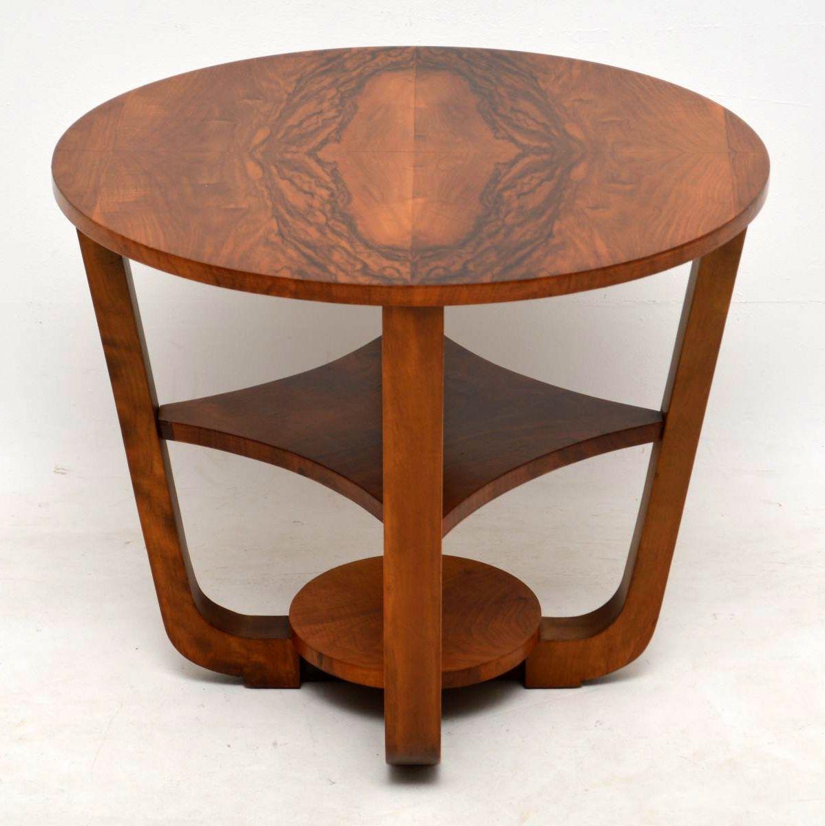 1920's Art Deco Figured Walnut Coffee Table