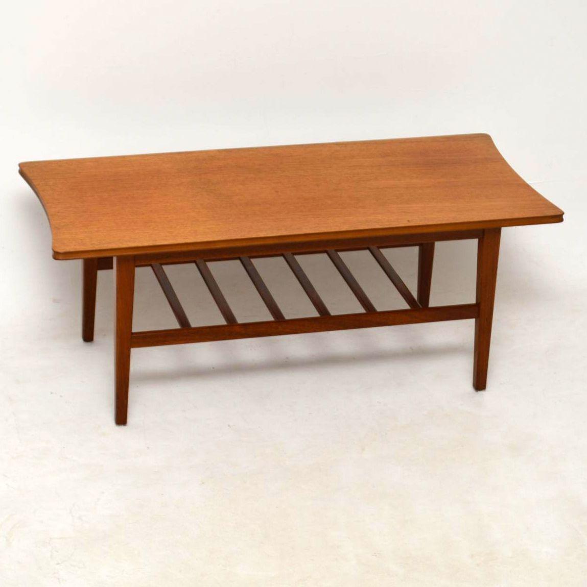 1950's Teak Vintage Coffee Table by Richard Hornby