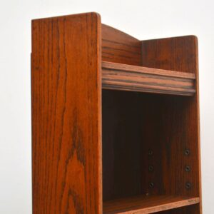 Antique Edwardian Oak Open Bookcase Vintage 1900