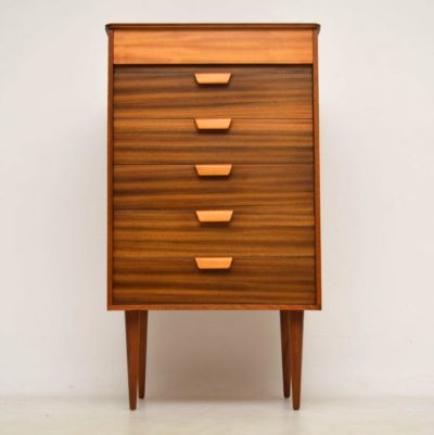 vintage walnut tallboy chest of drawers uniflex