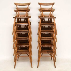 1950's Ercol Blue Dot Childs Dining Chairs - Set of 12