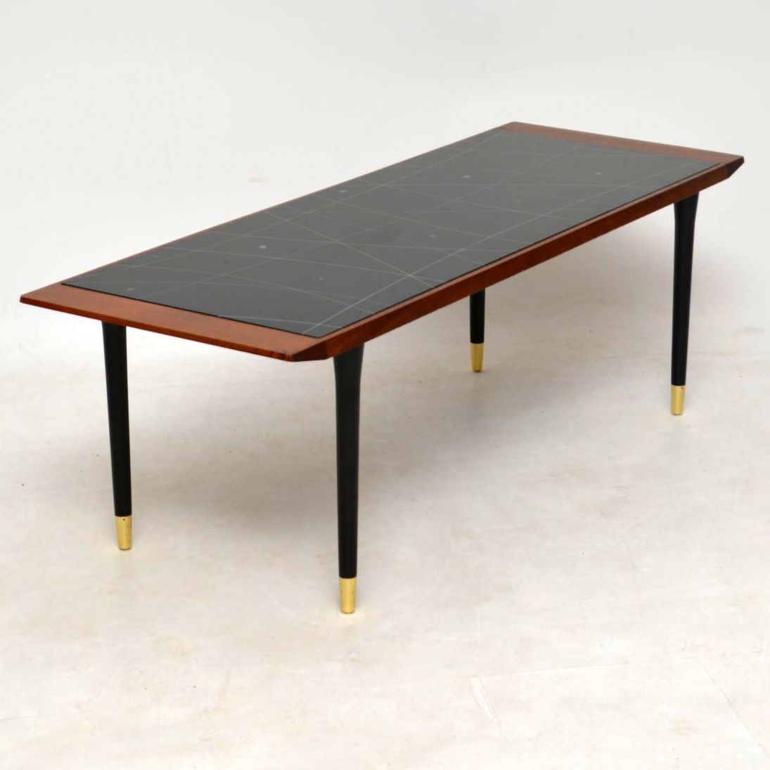 1950's Vintage Teak Glass Top Coffee Table | Retrospective ...