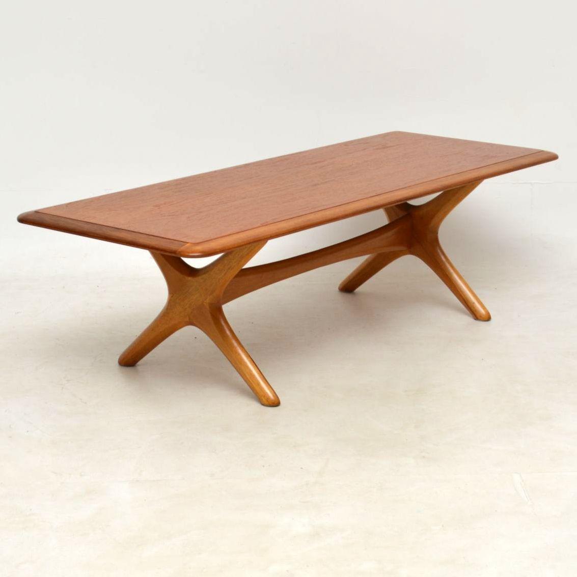 1960 S Danish Teak Vintage Coffee Table Retrospective