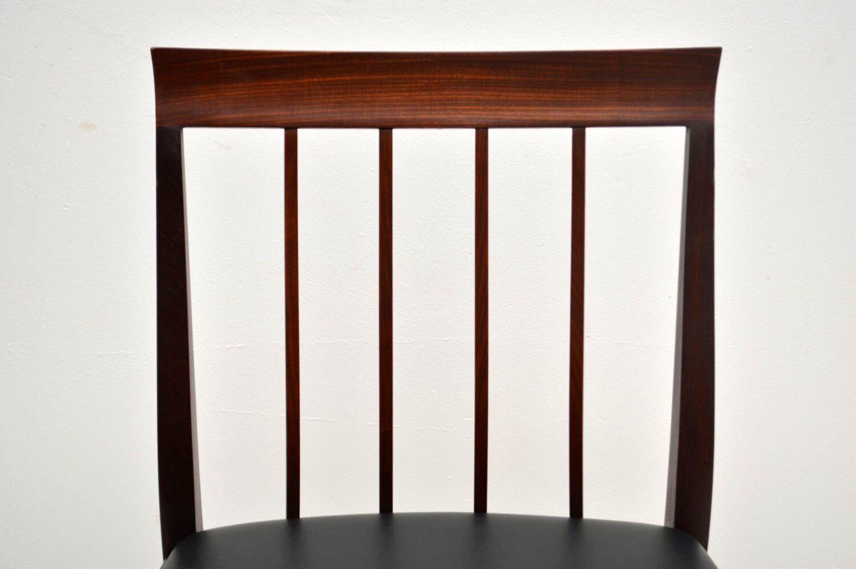set of eight vintage teak dining chairs by robert heritage