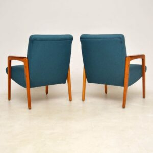 pair of vintage mid-century armchairs