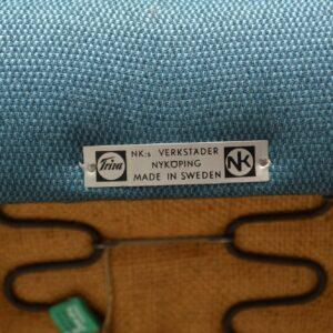 1950's Pair of Swedish Teak Vintage Armchairs
