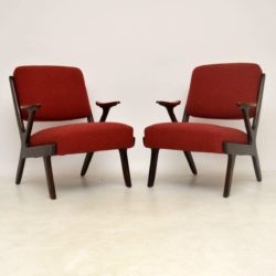 1960's Pair of Swedish Teak Vintage Armchairs