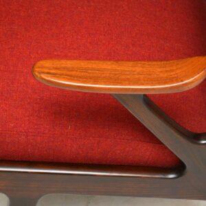 pair of vintage mid-century armchairs