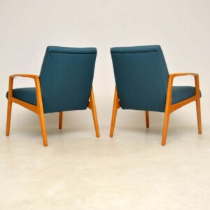 pair of mid-century danish armchairs