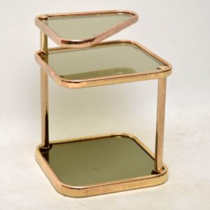 1970's Vintage Italian Brass Side Table