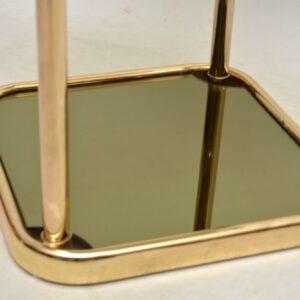vintage italian brass side table