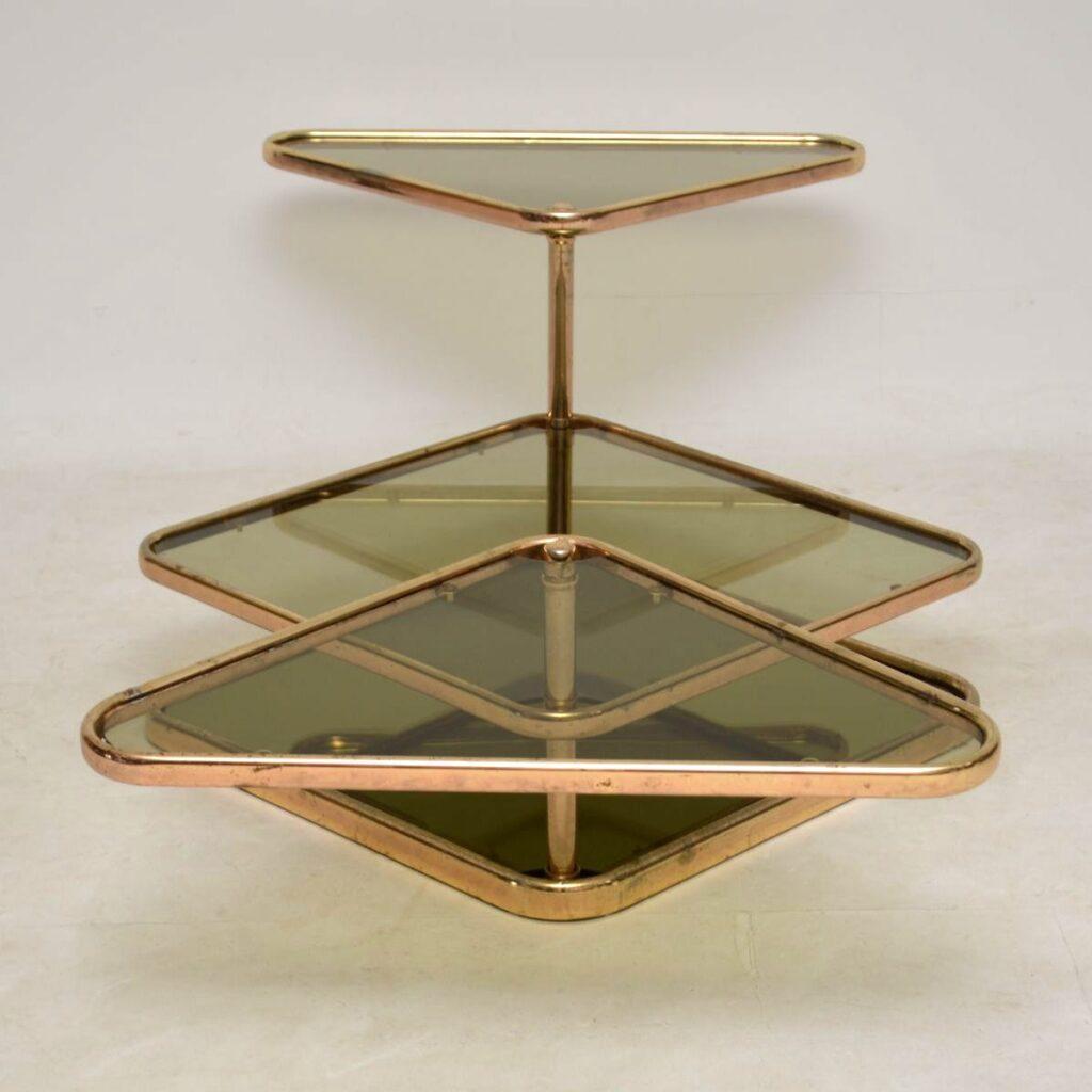vintage italian brass coffee table