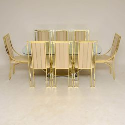1970's Italian Vintage Dining Table and 8 Chairs by Zevi