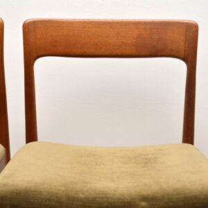 set of four vintage teak dining chairs
