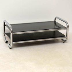 vintage chrome coffee table