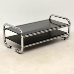 1970's Vintage Chrome & Glass Coffee Table