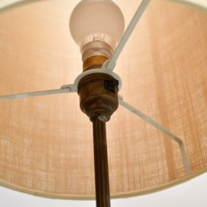 vintage teak and brass telescopic lamp