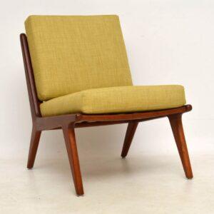 1960's Danish Teak Vintage Slipper Chair