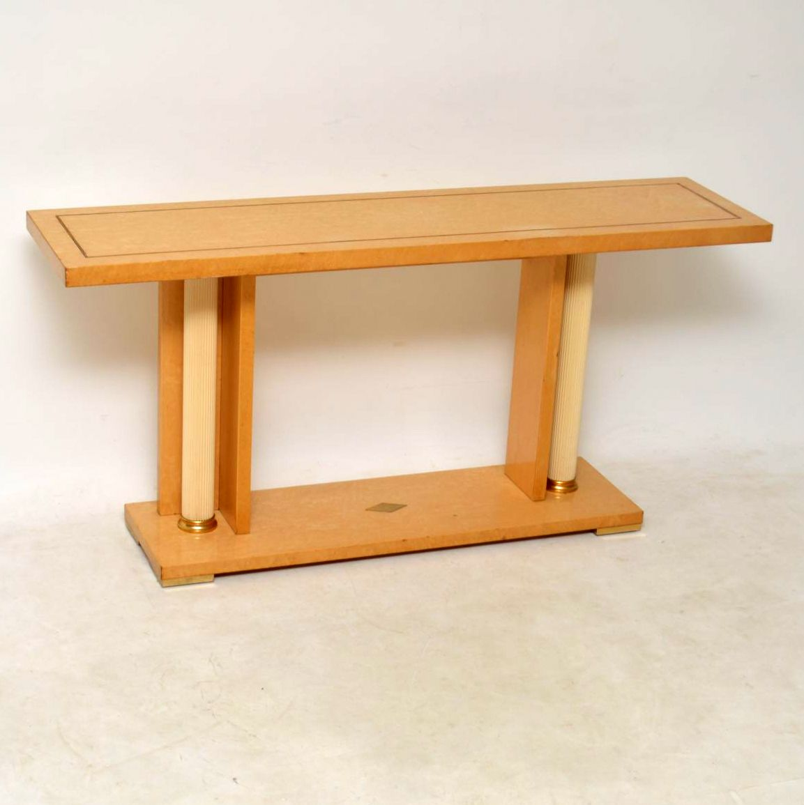 vintage italian maple console table zevi