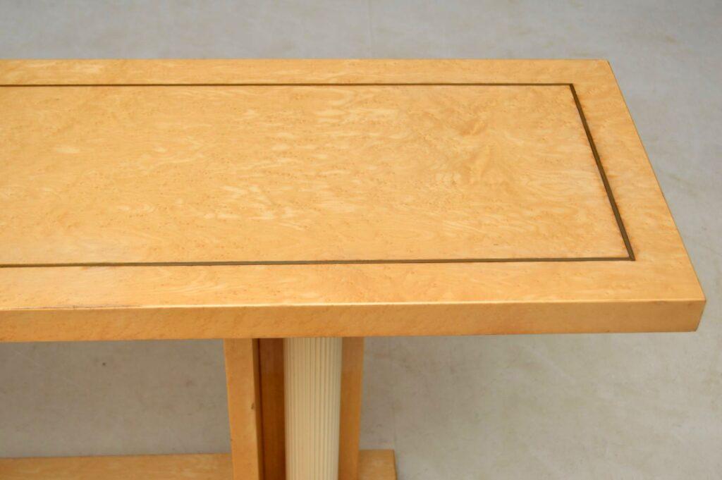 vintage italian maple console table zevi