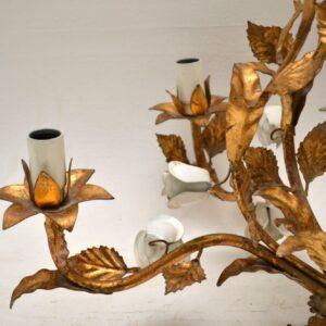 vintage italian gilt chandelier