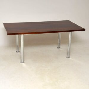 rosewood and chrome vintage dining table by pieff