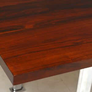 Rosewood & Chrome Vintage Dining Table by Pieff