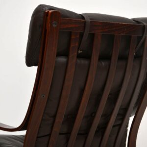 1970's Pair of Vintage Danish Leather Armchairs