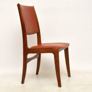 set of six vintage danish rosewood dining chairs