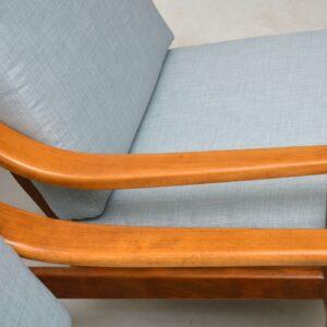 vintage pair of danish armchairs