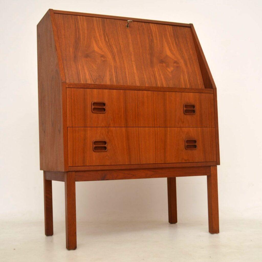 danish teak vintage bureau